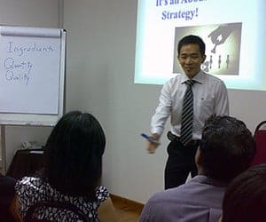 Jacky Lim in a NLP Training