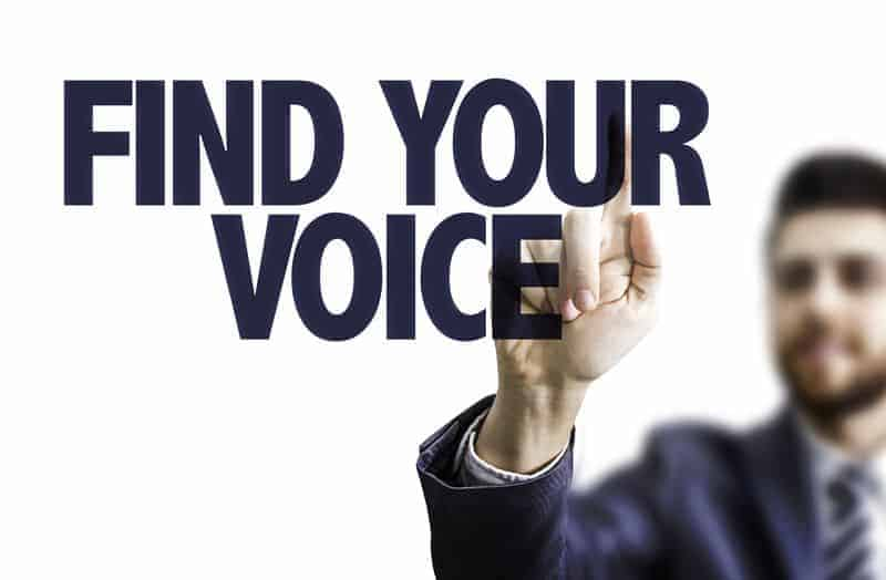 Finding your voice, speaking confidently