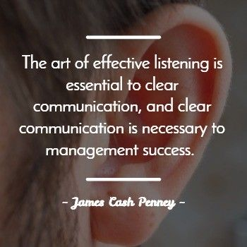 Art of Listening Quote