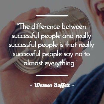 Being Assertive Quote from Warren Buffett